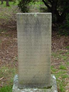 Henry Savery memorial stone, Isle of the Dead, Tasmania